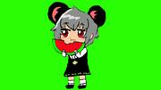 スイカを食べるNYN姉貴(修正)