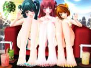 【今日のミクお姉さん】お姉さん達の足指さんと デート…♡