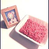 にくるちゃんの写真とミンチ肉