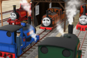 """""""ガミガミじいさん""""には頭が上がらない機関車たち"""