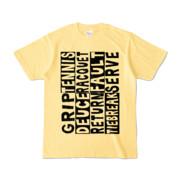 Tシャツ   ライトイエロー   Super☆Tennis_word
