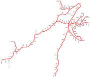 東急電鉄の路線図