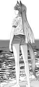 体操服を着て海に来たスズカさん