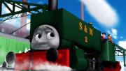 古い機関車とお嬢様