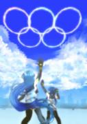 五月雨涼風とブルーインパルス ver.東京オリンピック