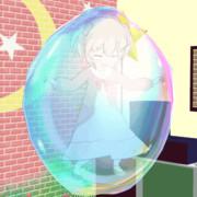 【Gifアニメ】ラティナがシャボン玉でびよーんびよーん