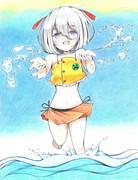 暑いので水遊びしましょ