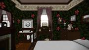 【MMDステージ配布】小型寝室セット