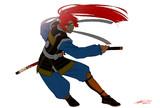 赤髪の炎の剣士