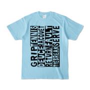 Tシャツ | ライトブルー | Super☆Tennis_word