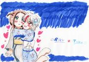 夏の夜、浴衣で愛をはぐくむふたり