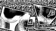 「珈琲と音楽と 04」※版画効果・おむ09364