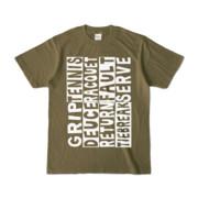 Tシャツ   オリーブ   Super☆Tennis_word