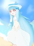 青い空、青い海と葵ちゃん