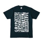 Tシャツ   ネイビー   Super☆Tennis_word