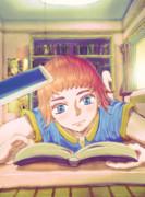 読書してる女の子