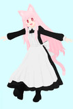 ピンク髪メイドさん