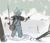 ハードな釣りをするセイウンスカイ