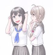 あきつ丸&神州丸 セーラー服mode