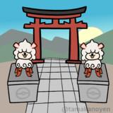 【GIFアニメ】狛犬ガーディ(ヒスイのすがた)