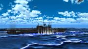 米空母へ急降下する九九式艦爆