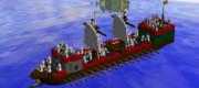 LDDで軍船作ってみた(紀元前版)。