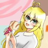 アイスクリームを食べる弦巻マキ