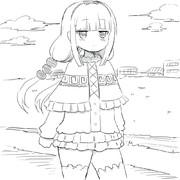 散歩するカンナ