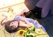 夏、遊び疲れた妹