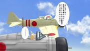 零戦に乗るアライグマと九六艦戦を駆るフェネック