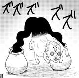 例のポーズをする玉壺さん