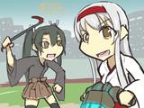 妹を誘ってPCゲームに興じる翔鶴姉ぇ