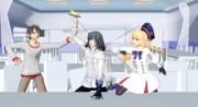 【Fate/MMD】「深夜の食堂でこっそり食べるメロンは格別……って、なんだよ君ら!?」