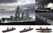 MMD用モブ弩級戦艦1939(モブグート)セット