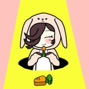 【GIFアニメ】ニンジンもぐもぐウサライス