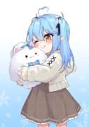 雪民とロリらみぃちゃん