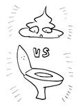 うんこVSトイレ