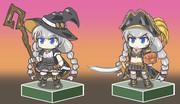 魔女と海賊風コスのあかりちゃん