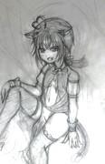 落書きで描いた猫耳ショタ
