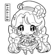 【ぬりえ】キュアコーラル