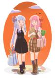 買い物帰りの琴葉姉妹