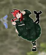 猫じゃらしでハッスルしている姿がロマサガのコマンド待機ポーズみたいになってしまったお燐ちゃんッ