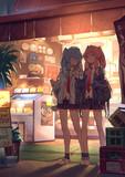 コロッケを食べる琴葉姉妹
