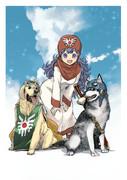 王女と犬。