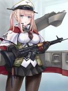 艦載機との指揮系統一本化を図るグラーフさん