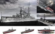 MMD用モブ弩級戦艦1940(モヴール)セット