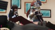 二人の行為を横目に人形を回収…