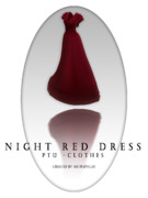 【MMD- PTU Clothes】Nigth red dress