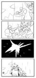 待ち伏せ作戦で人間の迎撃を試みるハーピィの漫画