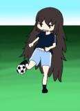 サッカーする
